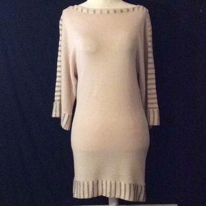 LINQ L.A cream cocktail dress with silver edges #S